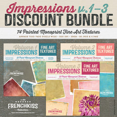 Impressions paint monoprint textures collections discounted bundle.