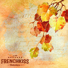 Design using Catharina Klien Fall Foliage vintage digital illustrations.