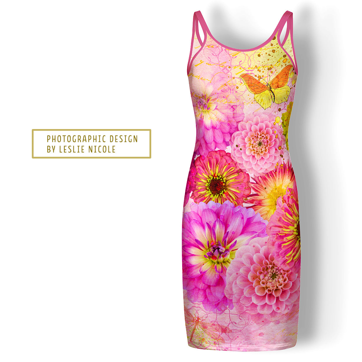 Photographic art floral by Leslie Nicole for placement pattern on a dress.