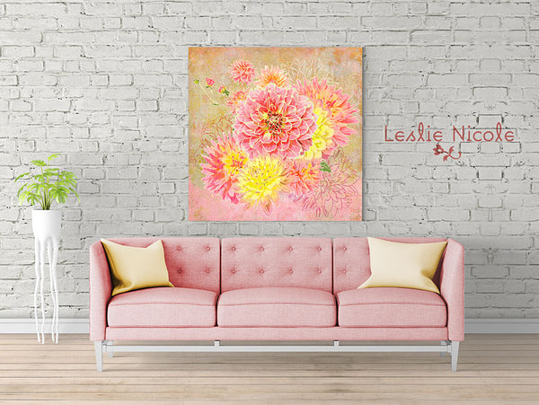 Design by Leslie Nicole using Virtuoso painterly texture in wall art.