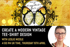 Design a modern vintage tee-shirt design - Live session with Leslie Nicole and Design Cuts.