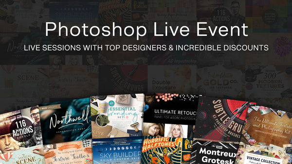 Photoshp Live event with Design Cuts with live speakers and huge discounts.