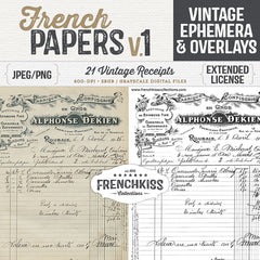 Vintage French Papers and Overlays volume one.