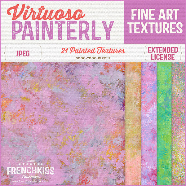 Virtuoso Painterly fine art commercial use texture collection.