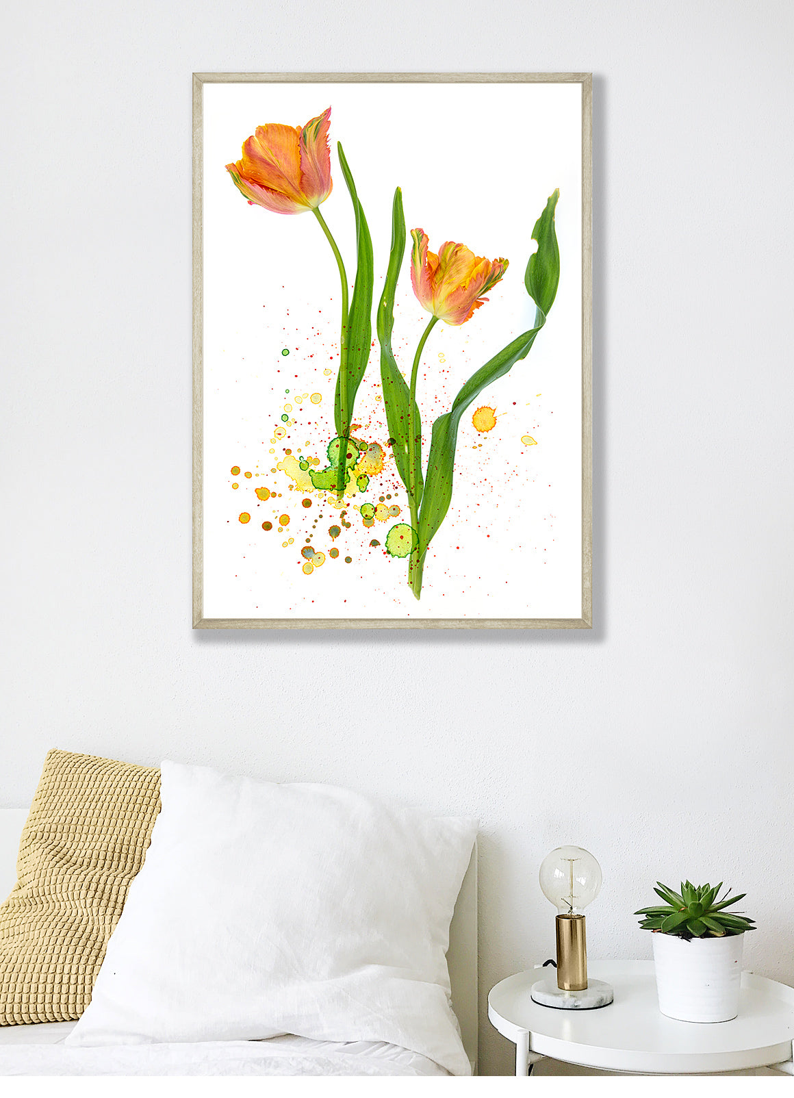 Photograph of tulips using watercolor spatter overlays from the Complete Inspirational Textures and Elements Collection.