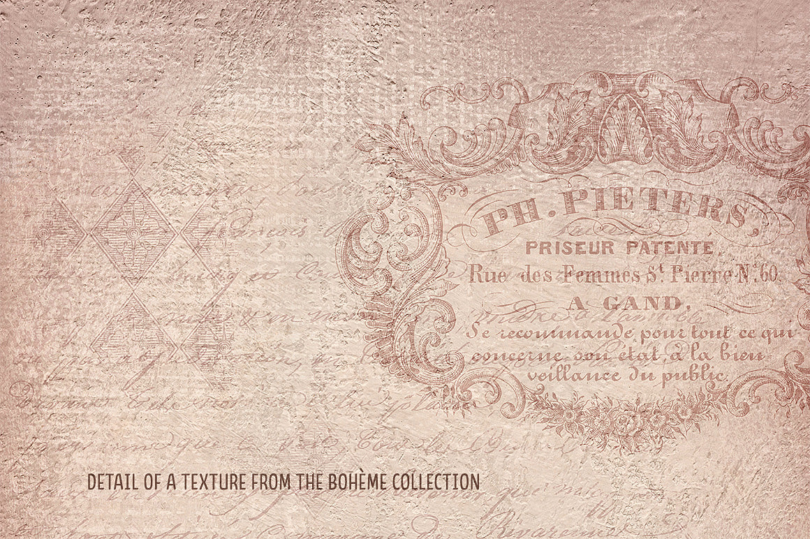 A vintage French detail from a texture in the Bohème collection.