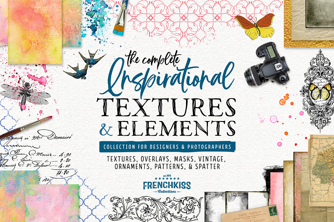 Complete Inspirational Textures and Elements Collection.