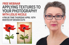 Free Webinar on applying textures to your photography with Leslie Nicole hosted by Design Cuts.