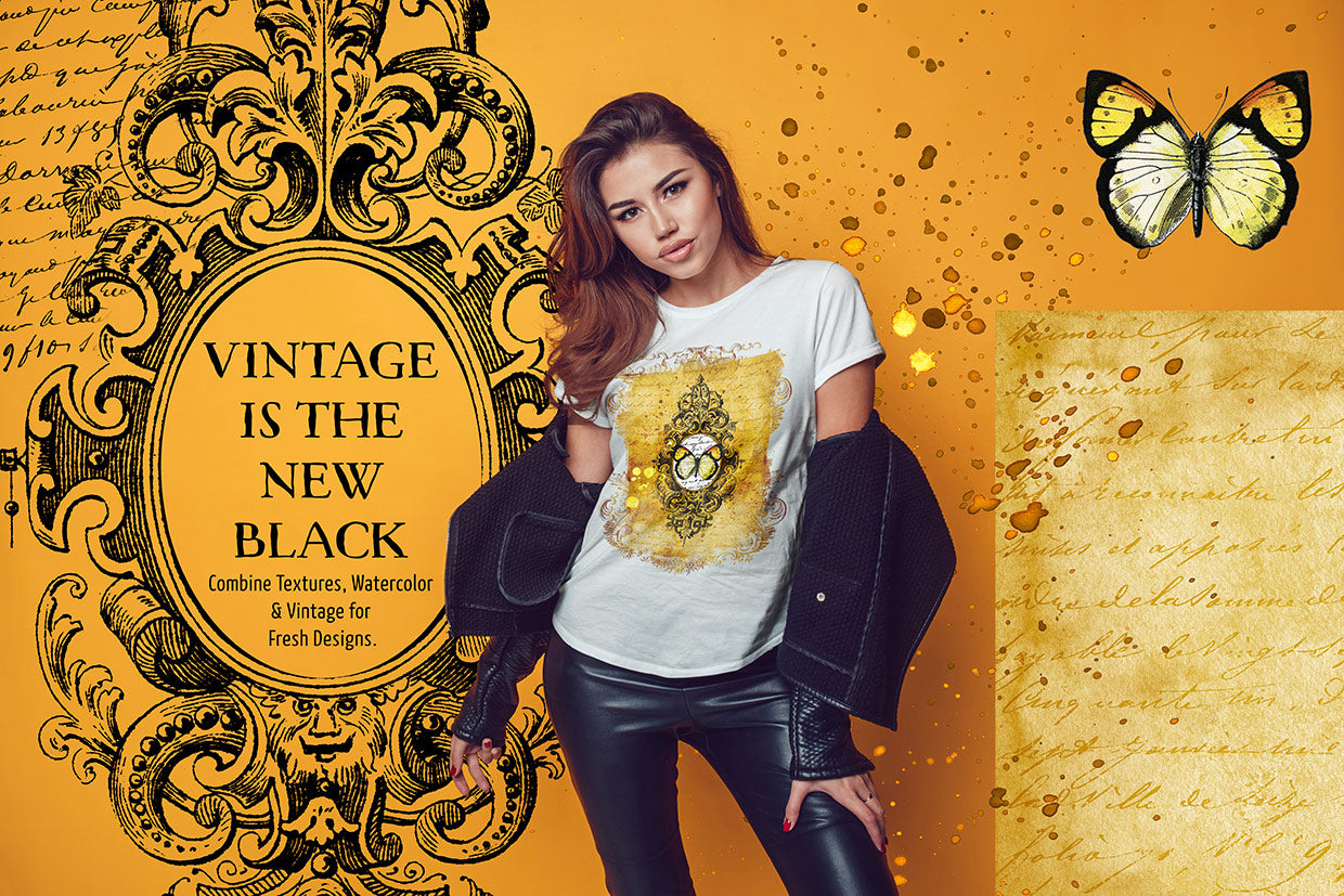 Create a modern vintage tee-shirt design live session with Design Cuts.