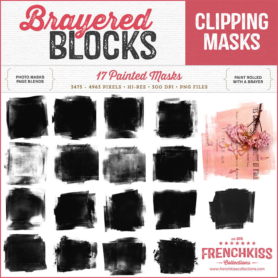 Brayered Blocks digital photo masks