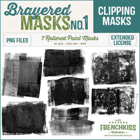 French Kiss Collections Brayered Digital Clipping Masks No. 1