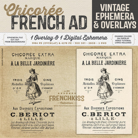 Chicoree Ad Ephemera and Overlay