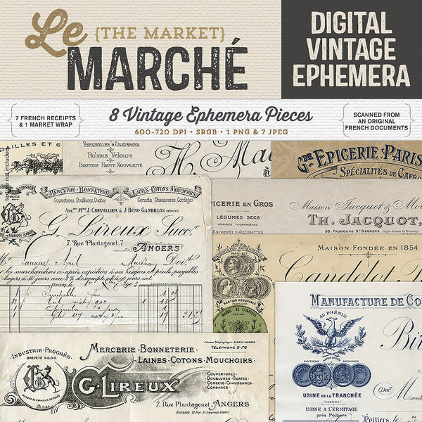 Le Marché Vintage French Ephemera