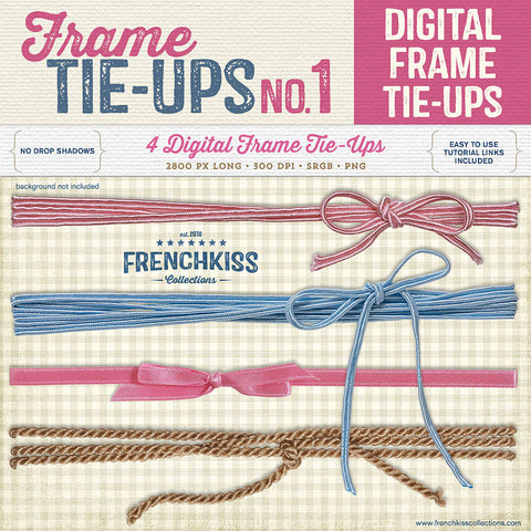 Frame Tie-Ups digital bows and string graphics.