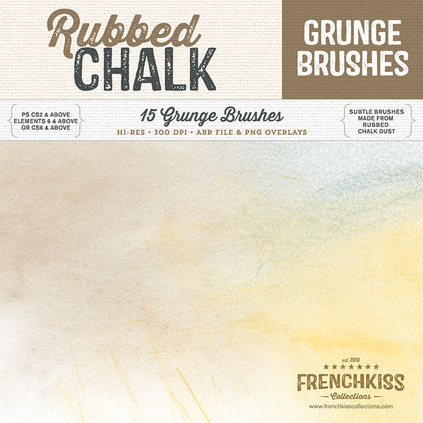 Rubbed Chalk Grunge Brushes