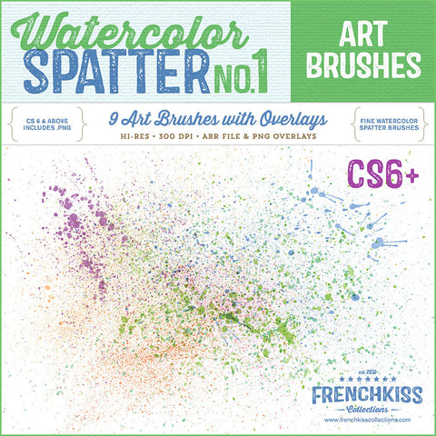 Spatter Brush Stamps no.1