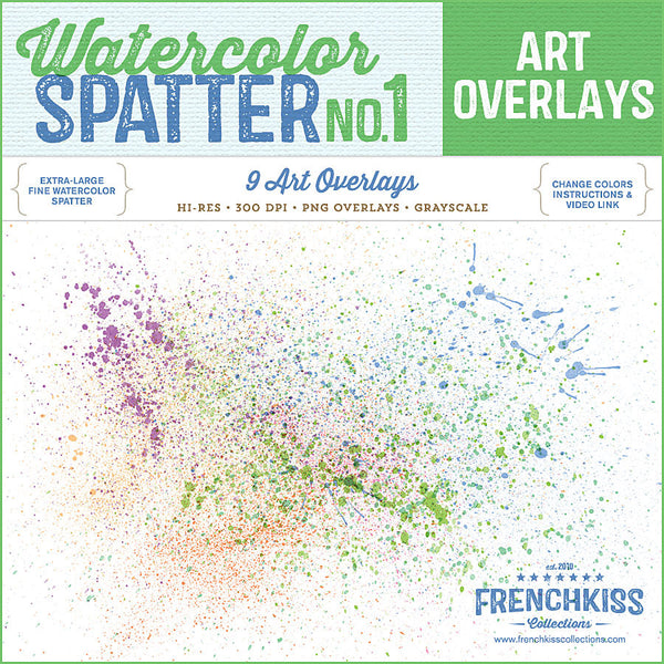 Spatter Overlays no.1