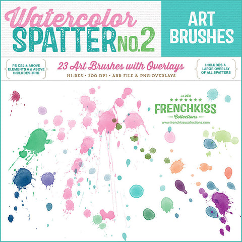 Spatter Brush Stamps no. 2