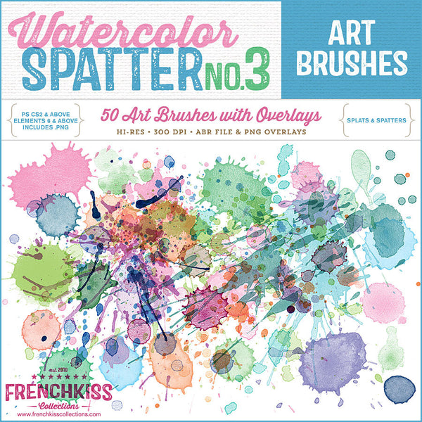 Spatter 3 Brush Stamps