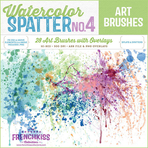Spatter 4 Brush Stamps