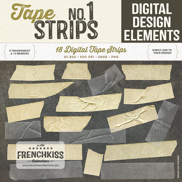 Tape Strips no.1 digital masking and transparent tape. Extended license.