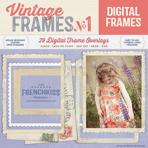Vintage Frames No. 1 digital graphics with commercial license.