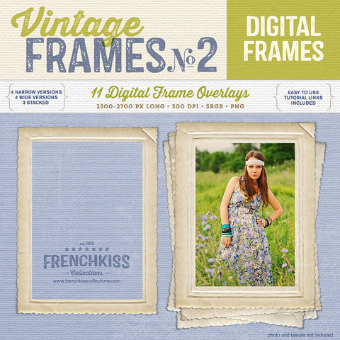 Vintage Frames No. 2 digital graphics with commercial license.