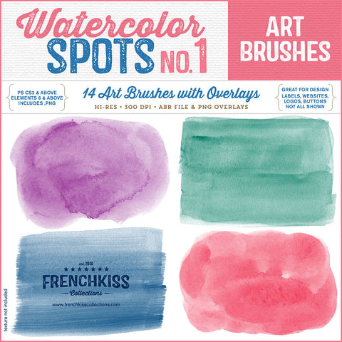Watercolor Spots Brush Stamps