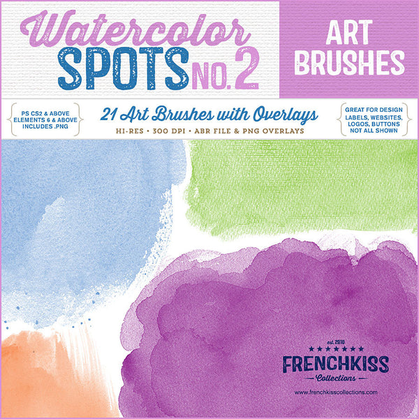 Watercolor Spot Brushes 2