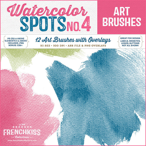 Watercolor Spot Brushes 4