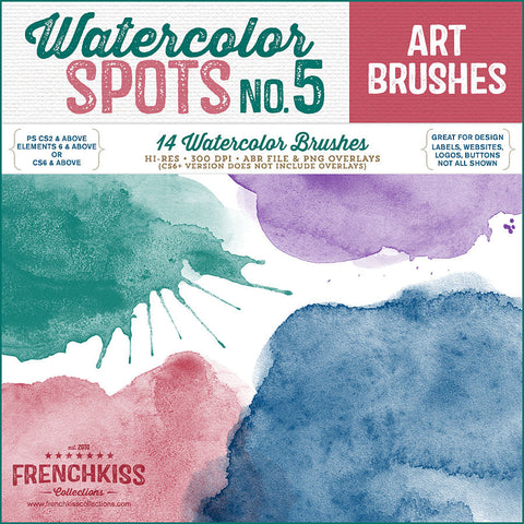 Watercolor Spot Photoshop Brushes No 5