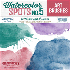 French Kiss Collections Watercolor Spot Photoshop Brushes No. 5