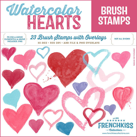 Watercolor Heart Brushes
