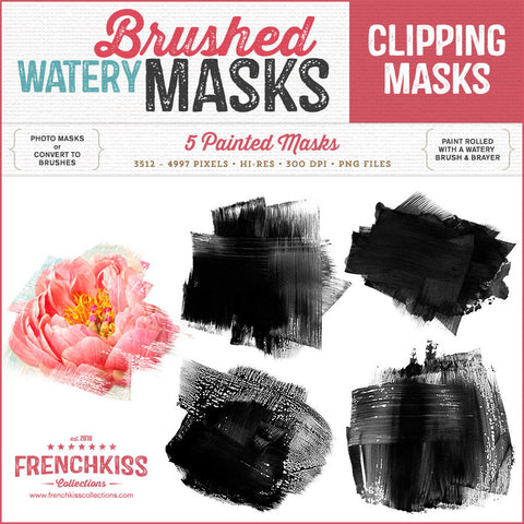 Watery brushed clipping masks
