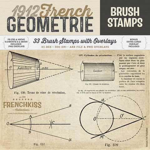 1912 French Geometrie Brush Stamps
