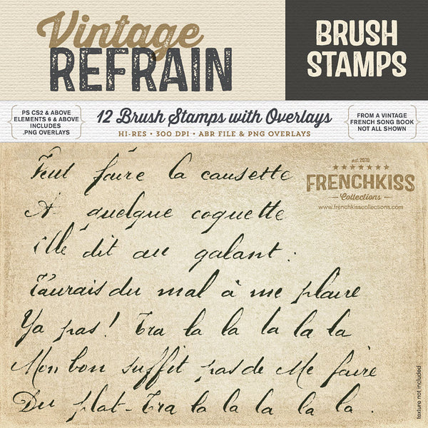 Vintage Refrain Brush Stamps