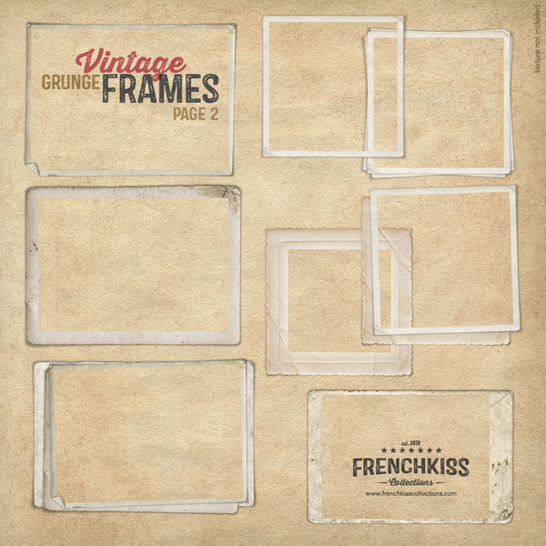 Vintage Grunge Digital Frames part 2 of 18 total frames.