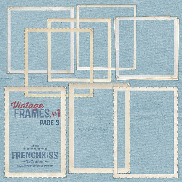 Vintage Frames No. 1 digital graphics - part 3 of 29 frames.