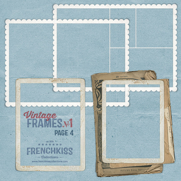 Vintage Frames No. 1 digital graphics - part 4 of 29 frames.