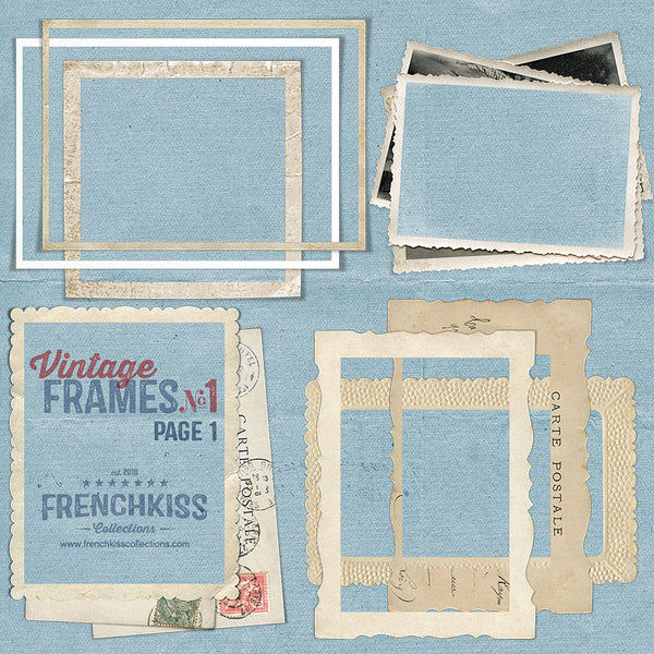 Vintage Frames No. 1 digital graphics - part 1 of 29 frames.