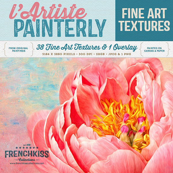 Artiste painterly fine art texture collection.Commercial license.