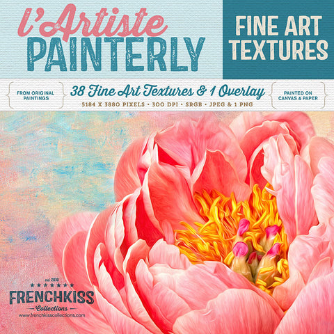 L'Artiste fine art, commercial use painted texture collection.