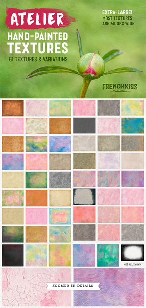 Atelier hand-painted texture collection. Extra-large, extended commercial license.