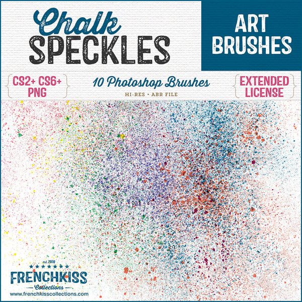 Hi-res Photoshop brushes of Chalk dust and speckles. Commercial license.