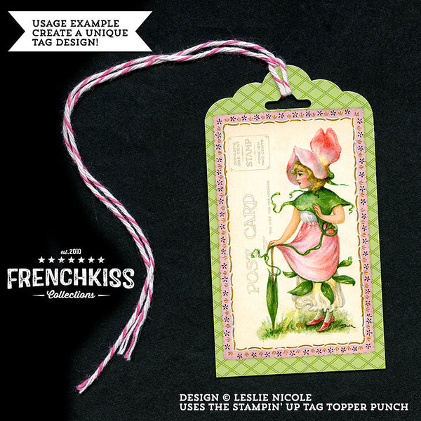 Gift tag design using the Dulk Flower Fairy illustrations.