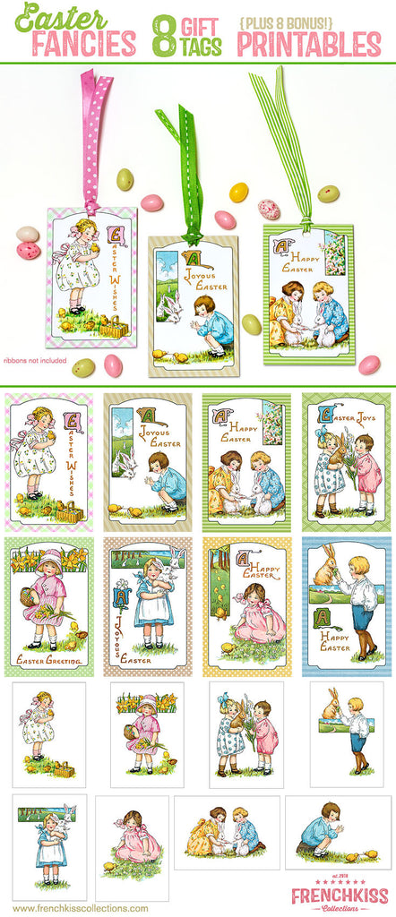 image relating to Gift Not Included Printable identified as Easter Fancies Printable Electronic Obtain Present Tags