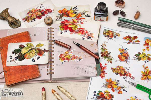Fall Leaves and Berries Printables are great for snail mail, junk journaling or planners!