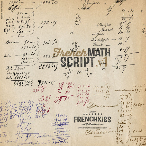 Frenck Kiss Vintage French Math Script digital overlays. ex3