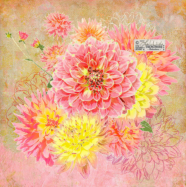 Floral art by Leslie Nicole using a texture from the Virtuoso Painterly Collection.