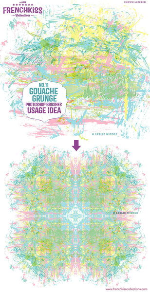 Usage idea for Gouache Grunge No. 11 Photoshop brushes.